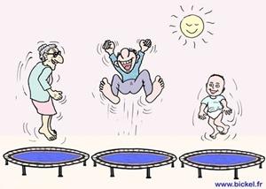 Youpi, je fais du trampoline !