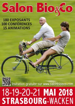 Logo salon bio&co printemps Strasbourg 2018