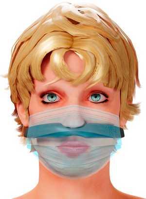 vue du dispositif ODIN sous le masque